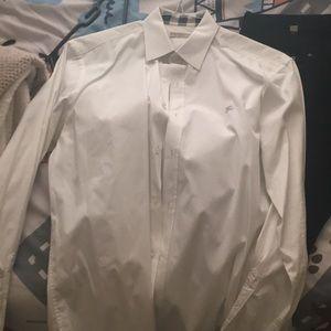 Burberry White Dress Shirt (M)